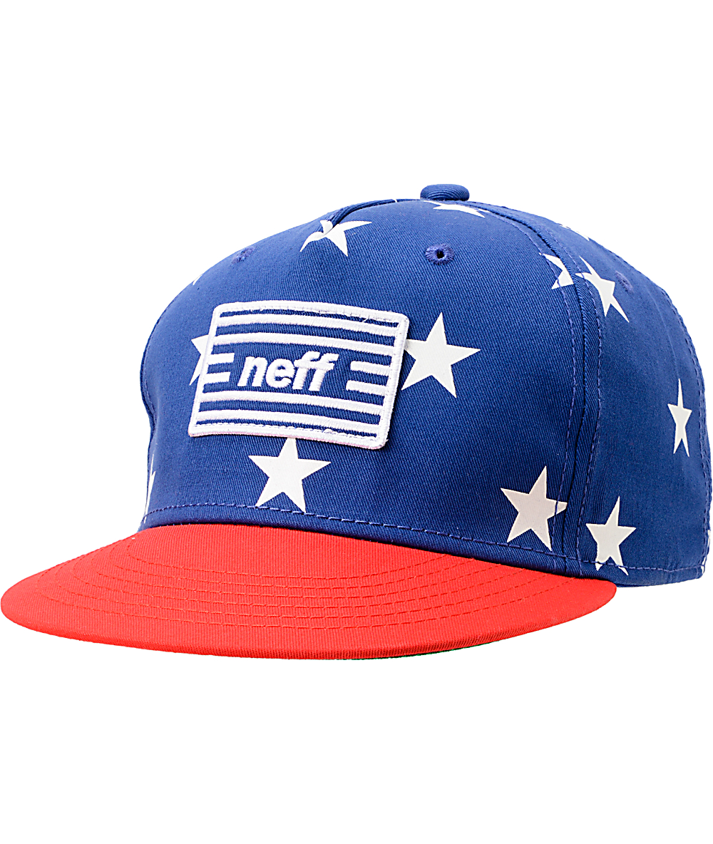 d5d262f9abb7a2 Neff Jazz Red, White, & Blue Snapback Hat | Zumiez