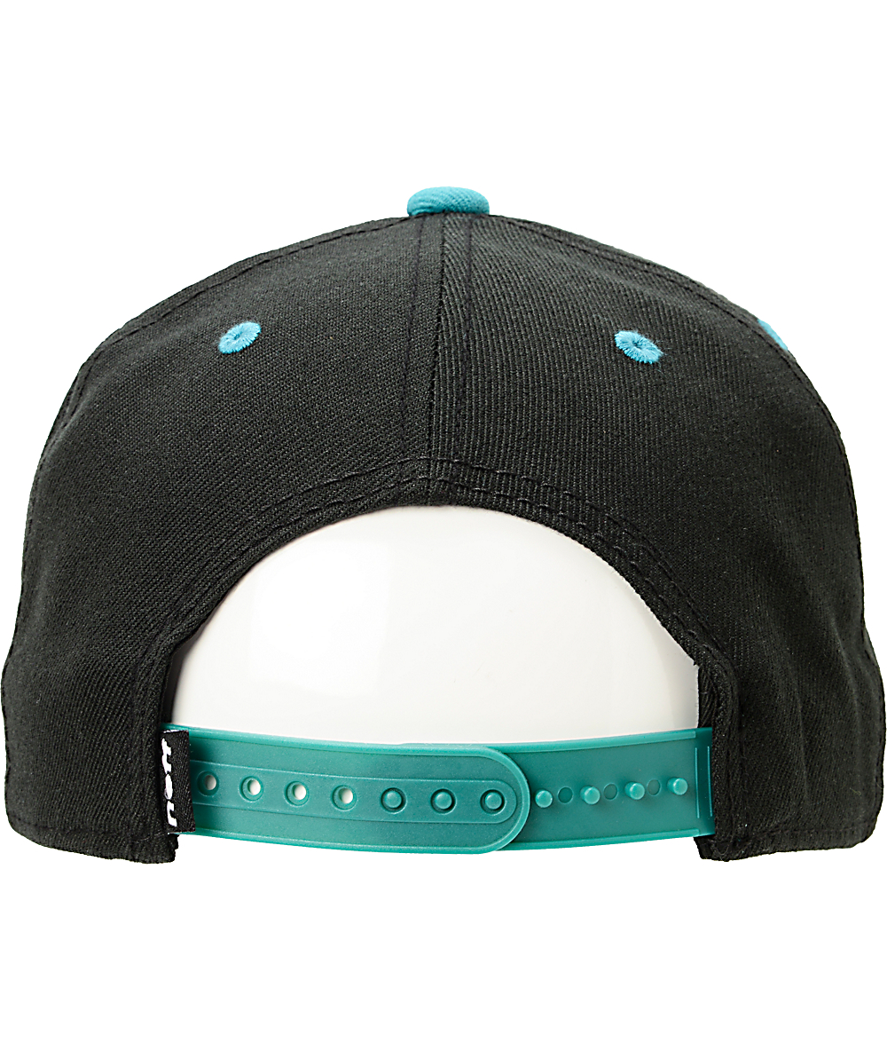 a974faf6c Neff Square Black & Teal Snapback Hat