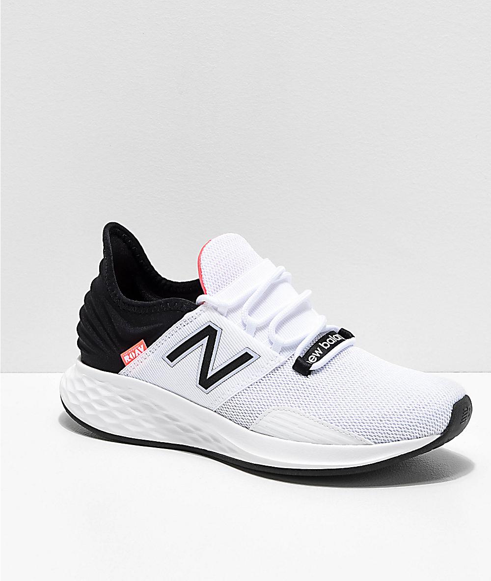 765203e4c New Balance Fresh Foam Roav White, Black & Pink Shoes   Zumiez