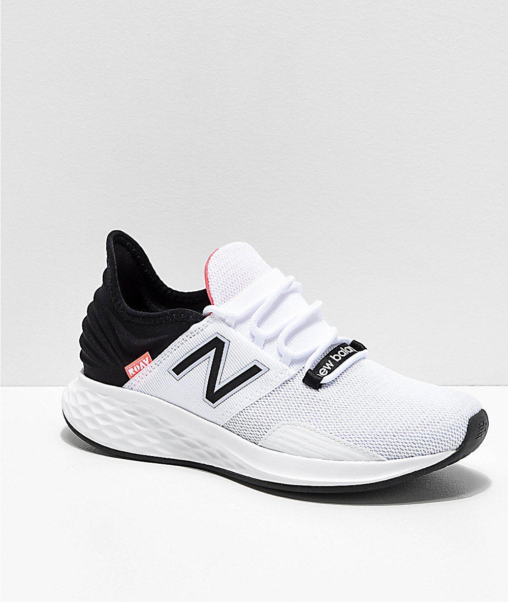 New Balance Fresh Foam Roav White, Black & Pink Shoes