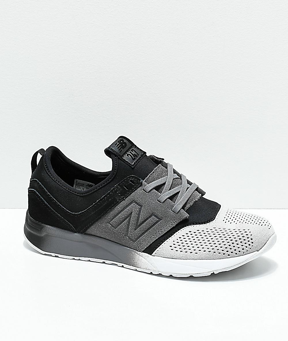 ede420382cb1 New Balance Kids Lifestyle 247 Black & Castle Rock Shoes | Zumiez