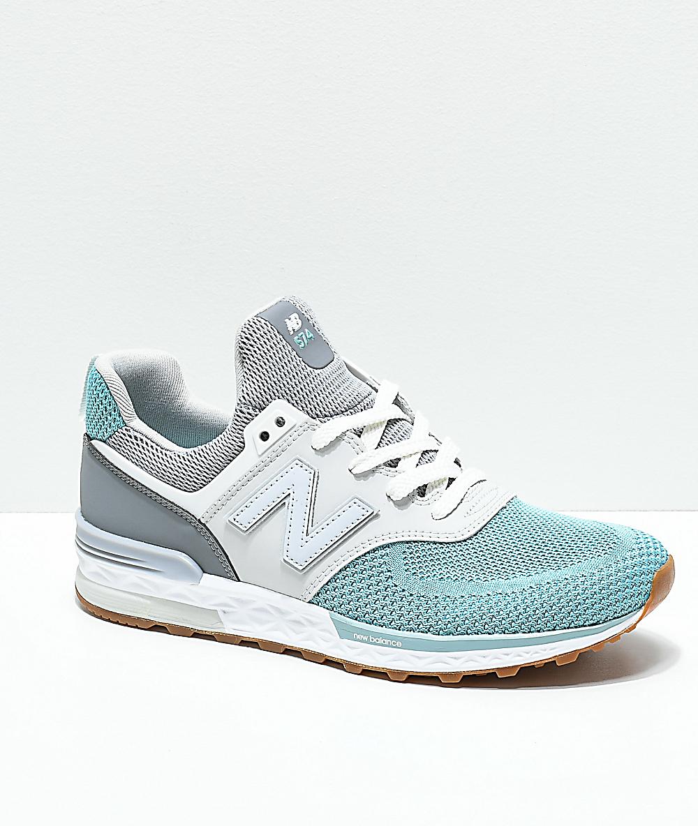 New Balance Kids Lifestyle 574 Sport Gunmetal & Storm Blue Shoes