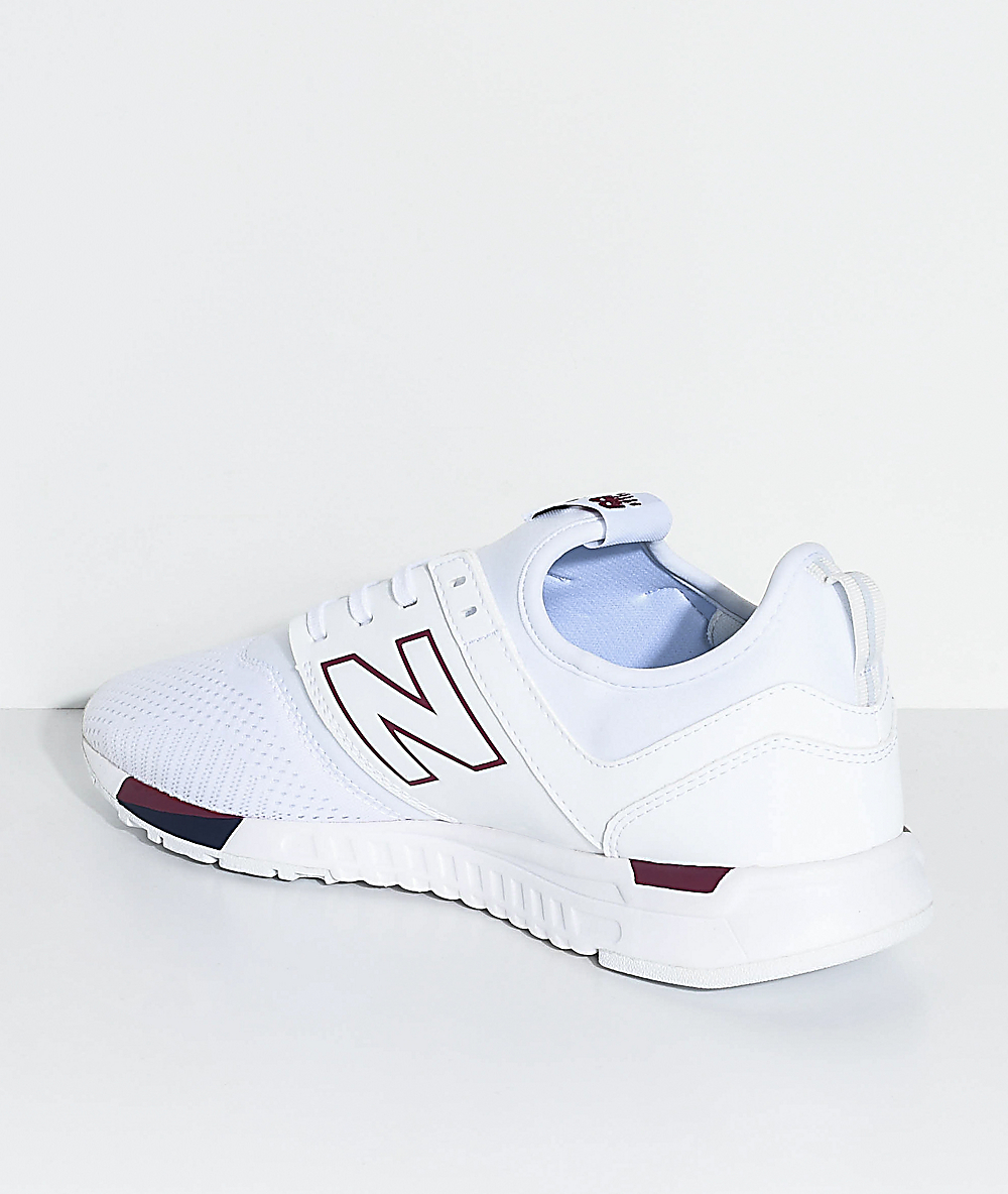 clearance prices retail prices pretty nice New Balance Lifestyle 247 Classic White & Burgundy Shoes