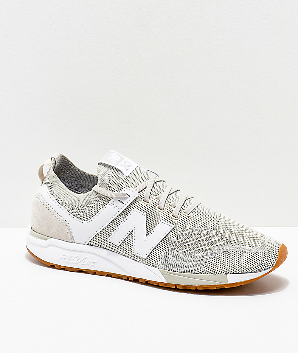 9eb9a4830dd33 New Balance Lifestyle 247 Deconstructed Moonbeam & White Shoes   Zumiez