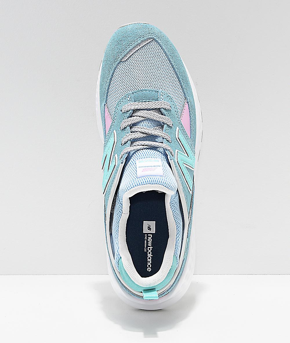356db8492ba67 New Balance Lifestyle 574 Sport Blue Fog & Tidepool Shoes | Zumiez