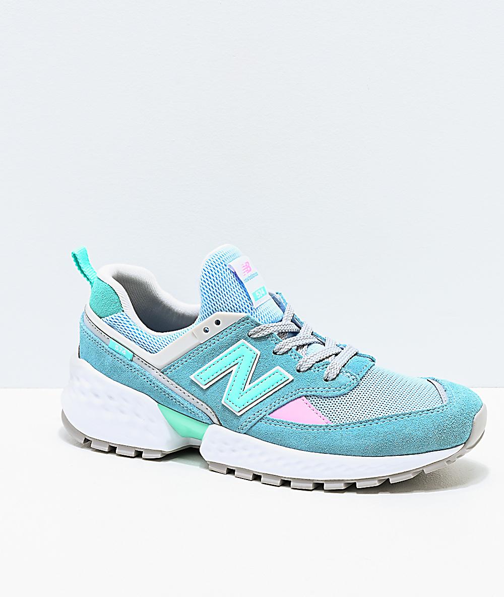cheap for discount 9b645 c204c New Balance Lifestyle 574 Sport Blue Fog & Tidepool Shoes