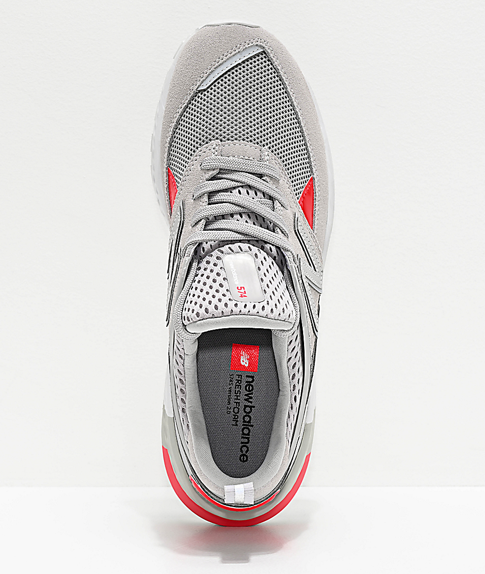 official photos 08300 57abe New Balance Lifestyle 574 Sport Rain Cloud & Energy Red Shoes