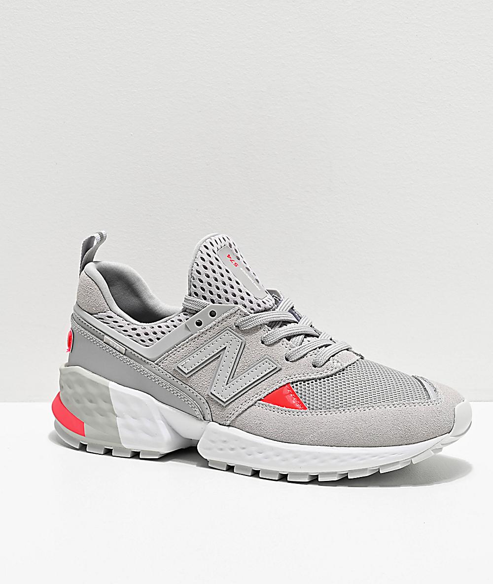 030feeaa946 New Balance Lifestyle 574 Sport Rain Cloud & Energy Red Shoes