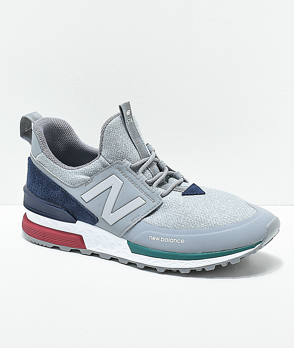 low priced 4ae4e ae197 New Balance Lifestyle 574 Sport Steel & Pigment Shoes