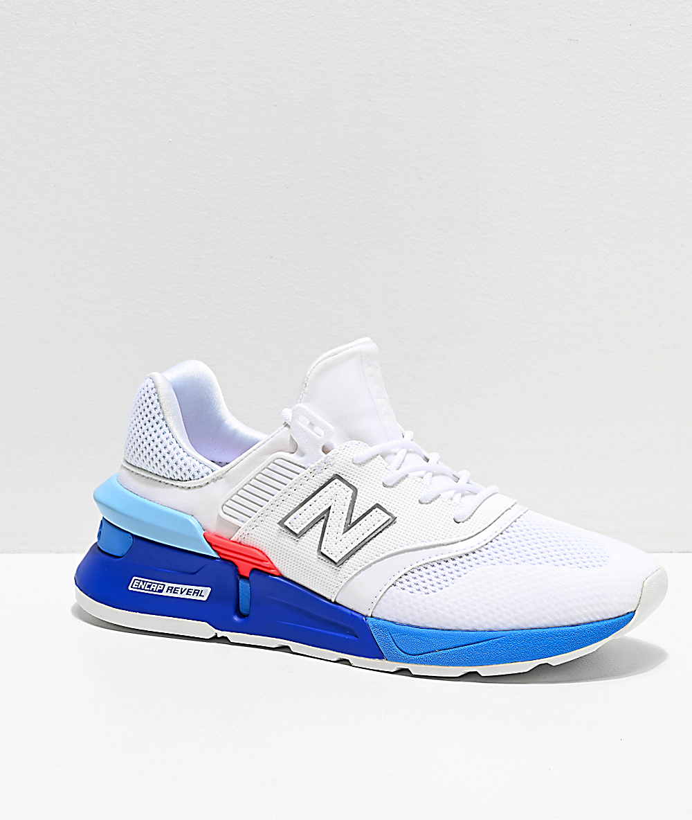 dfc2db695e23c New Balance Lifestyle 997 Sport White & Summer Sky Blue Shoes