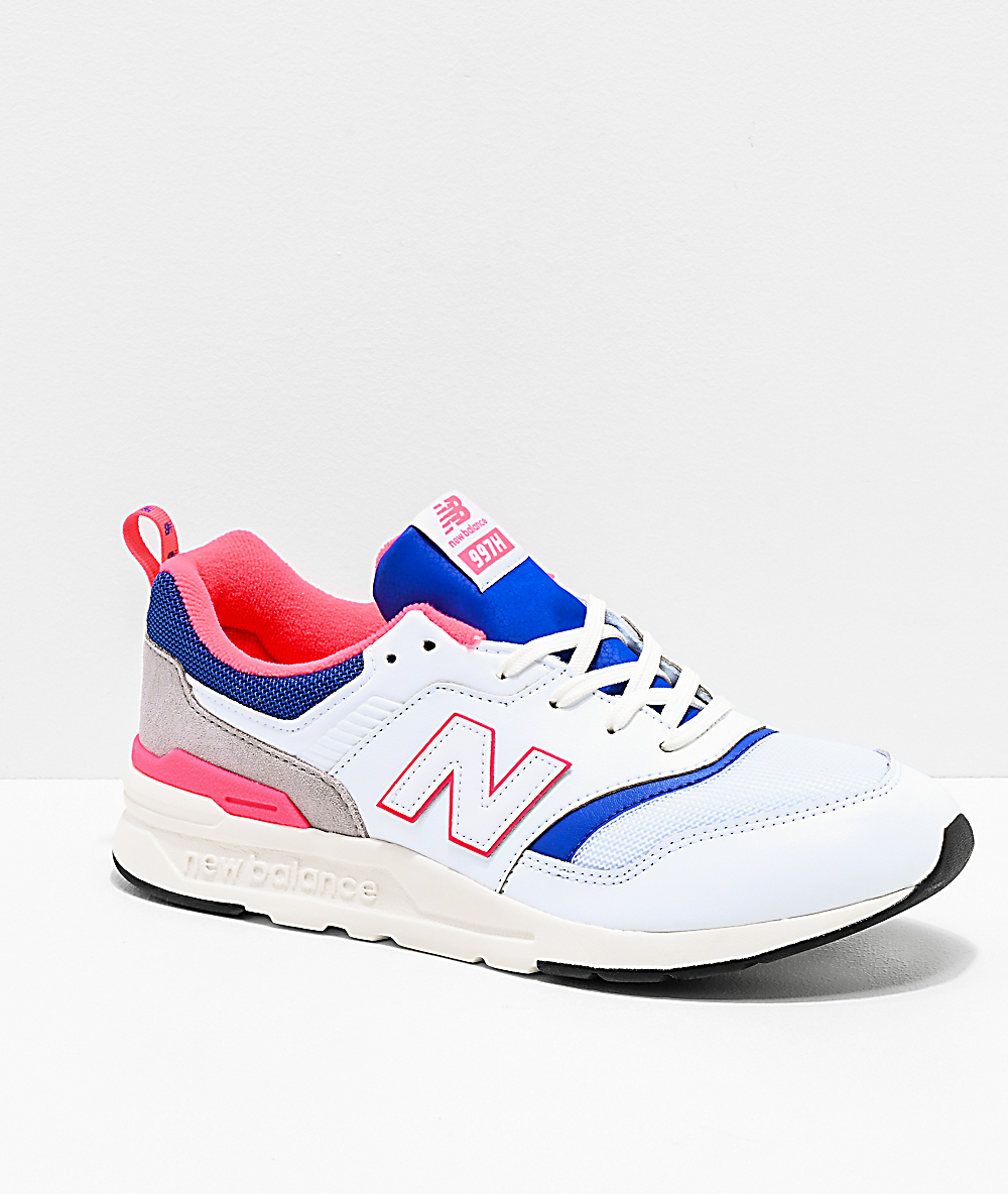 8117bc829174a New Balance Lifestyle 997H White, Lazer Blue & Pink Shoes | Zumiez