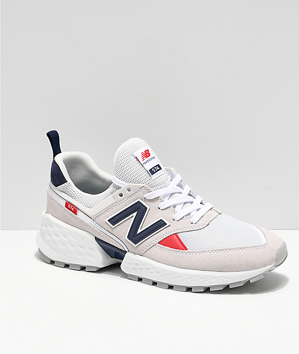 best loved a5779 3ac47 New Balance Lifestyle Men s 574 Sport Nimbus Cloud   White Shoes   Zumiez
