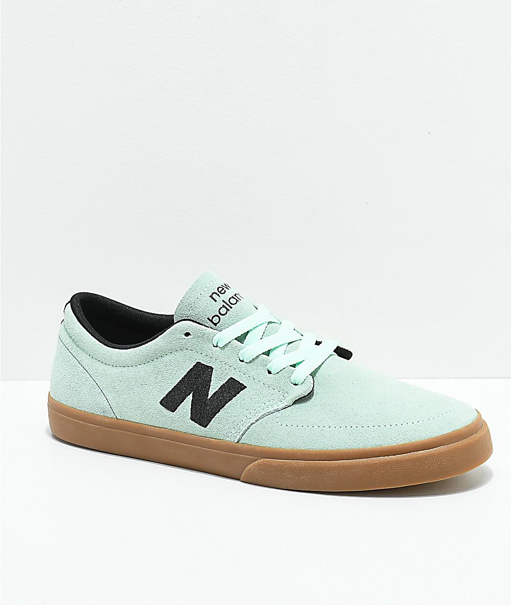 696ef8dacf422 New Balance Numeric 345 Mint & Gum Skate Shoes | Zumiez