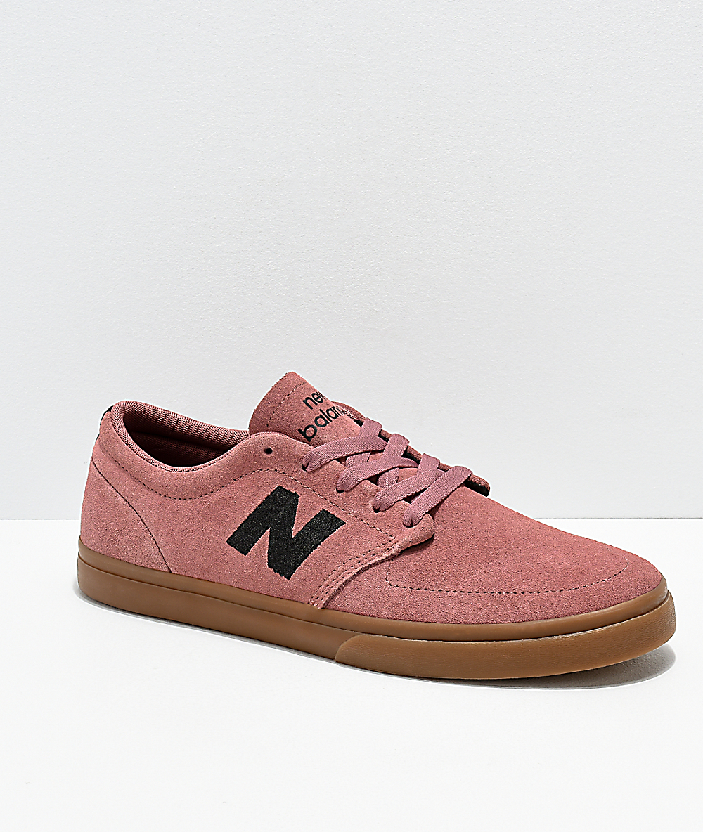a3947f933df38 New Balance Numeric 345 Rose & Gum Skate Shoes | Zumiez