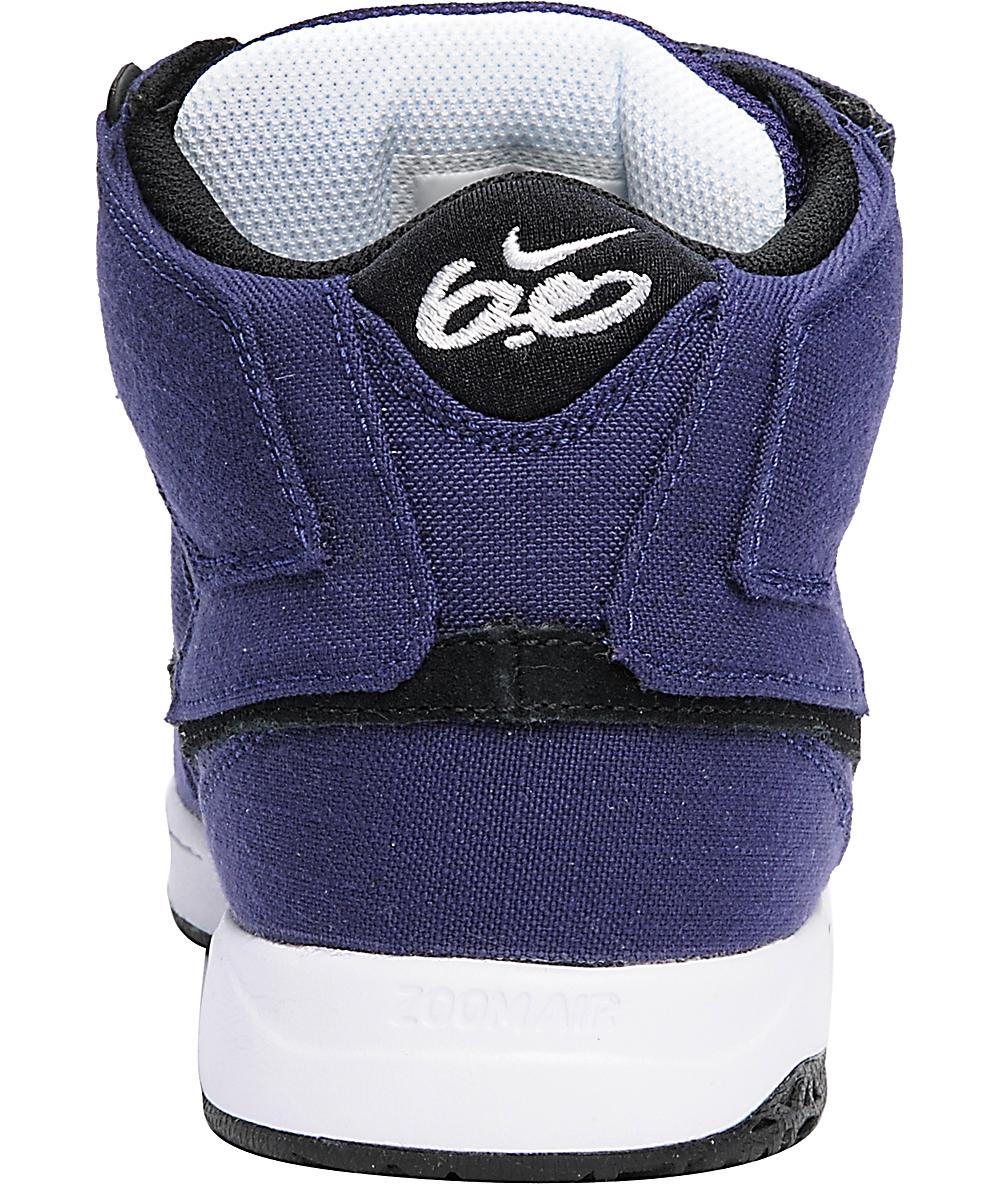 Nike 6.0 Mogan Mid 2 Purple & Black Shoes | Zumiez
