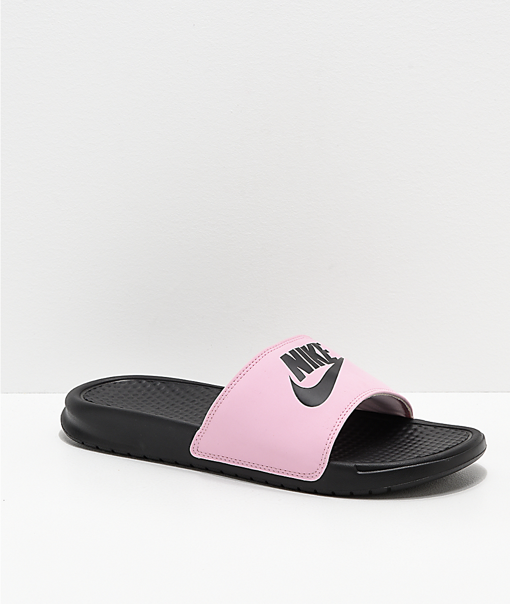 pink nike flip flops Shop Clothing