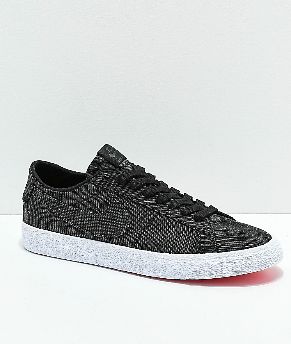 uno factible Voluntario  Nike SB Blazer Low Deconstructed Anthracite Canvas Skate Shoes ...
