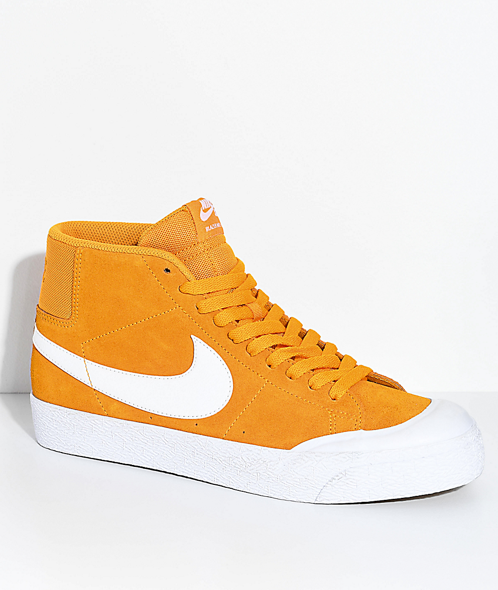 official photos afbff f5dee Nike SB Blazer XT Mid Orange   White Skate Shoes   Zumiez