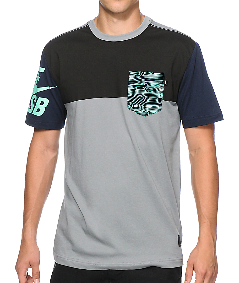 009d44c2f99ff Nike SB Blocked Out 2.0 Dri-Fit Pocket T-Shirt | Zumiez