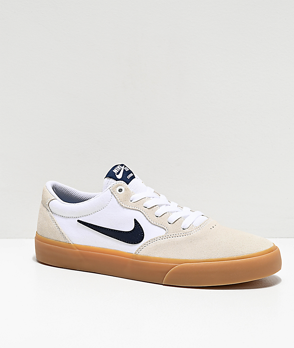 Nike SB Chron White & Gum Skate Shoes