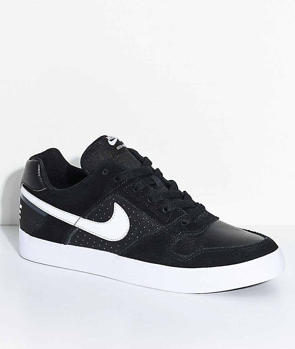 15c51ff34fb64 Nike SB Delta Force Black & White Skate Shoes   Zumiez