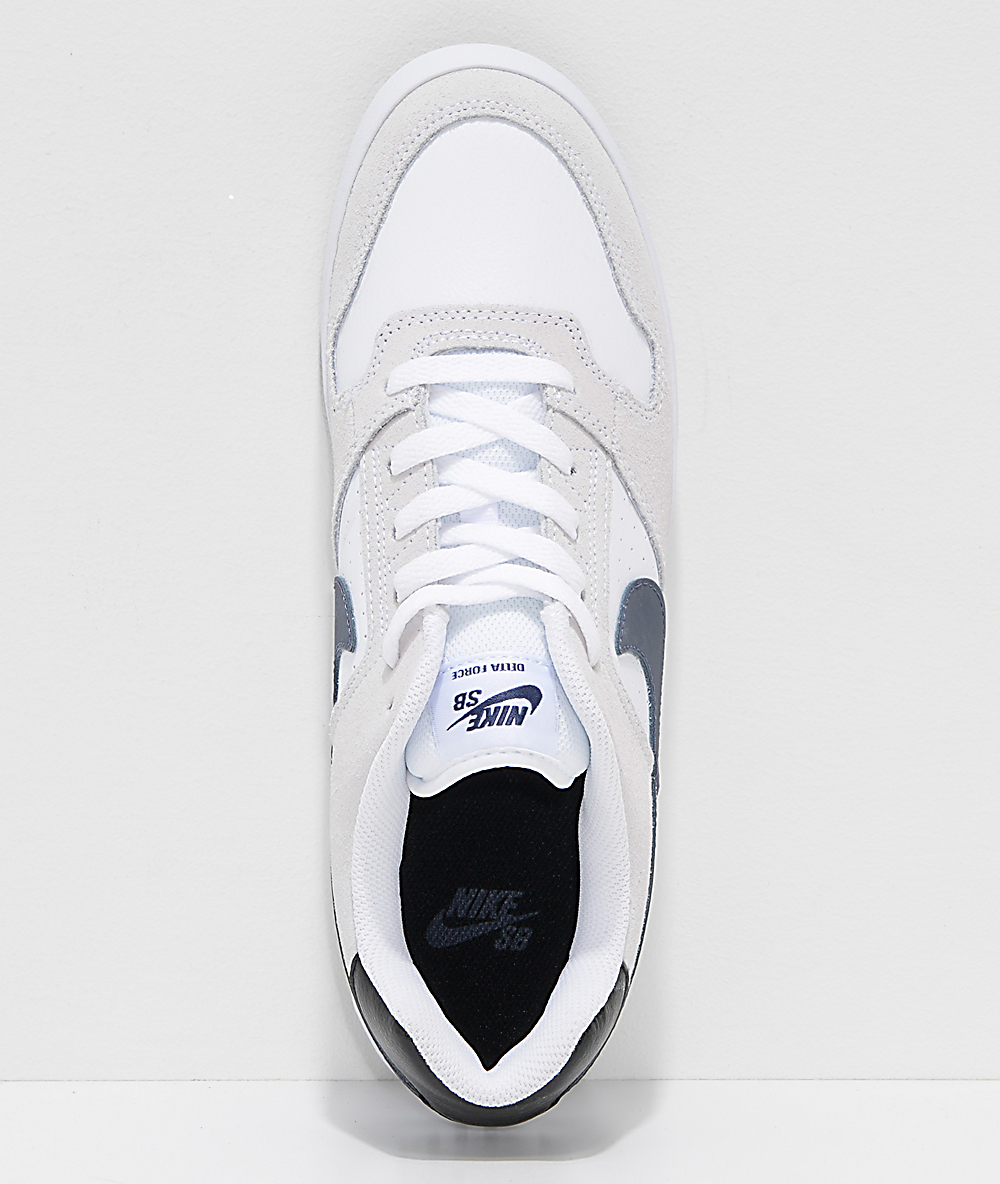 Nike SB Delta Force zapatos de skate en blanco y azul marino
