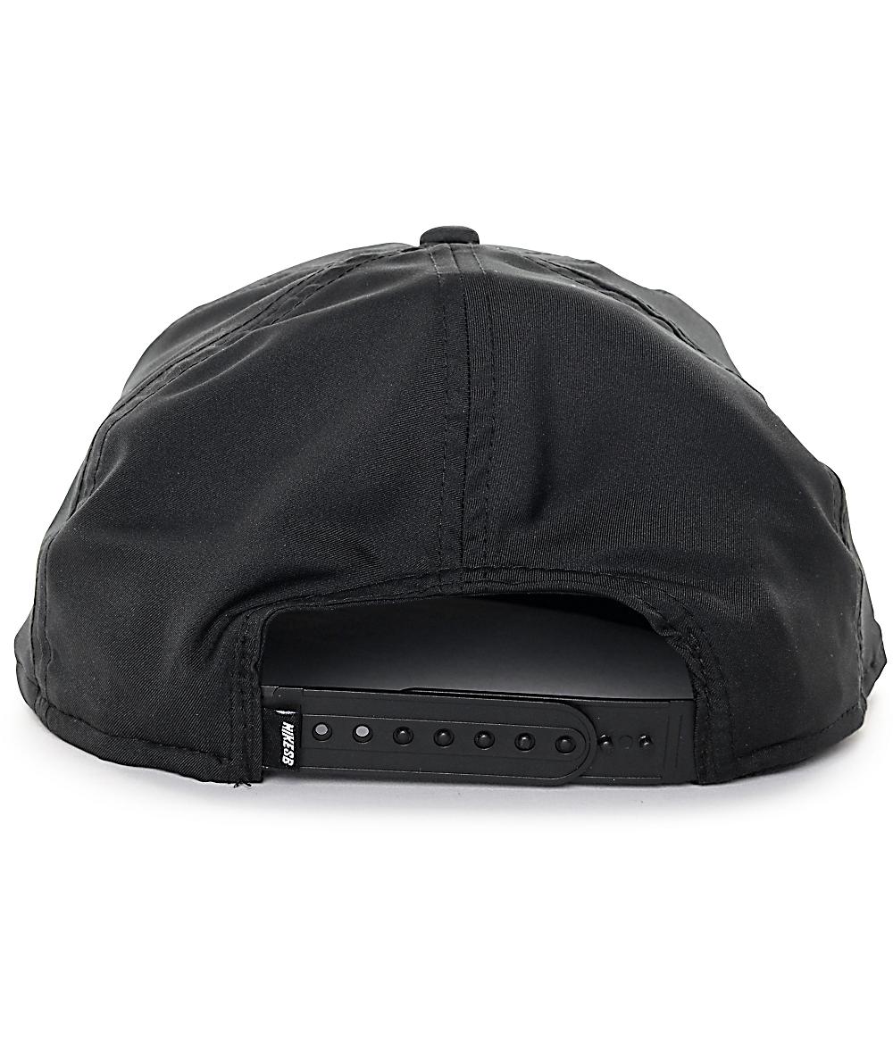 72fab427c Nike SB Dri-Fit Unstructured Pro Black Snapback Hat