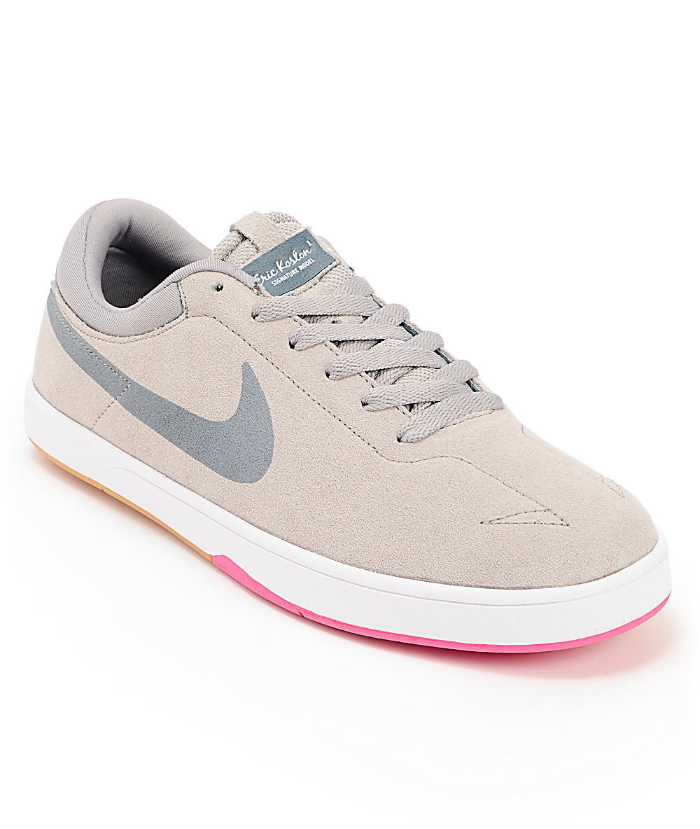 low priced da2f7 8f7fb Nike SB Eric Koston SE Lunarlon Medium Grey, Pink Foil   Armory Slate Shoes    Zumiez