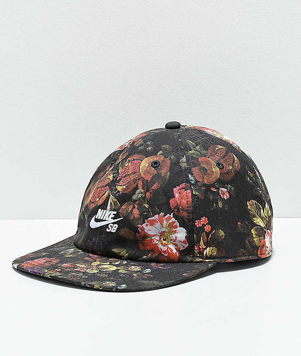 da25fc0f6 Nike SB Heritage 86 Floral Strapback Hat