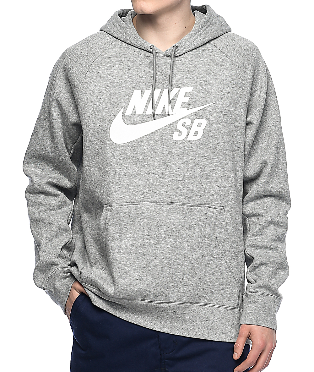 White Greyamp; Sb Hoodie Nike Icon EIH9WD2