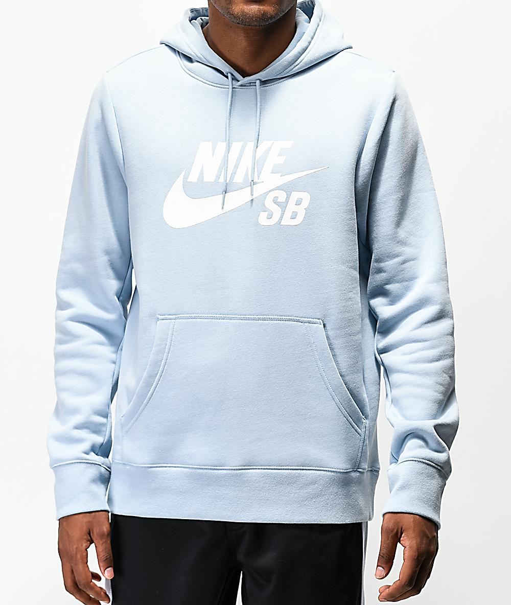nike hoodie blue