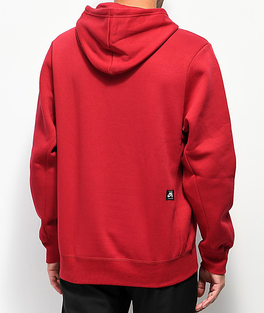 nike sb icon hoodie bordeaux