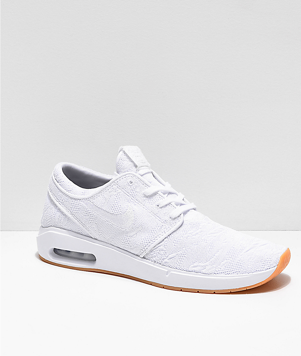 Nike SB Janoski Air Max 2 White & Gum Skate Shoes