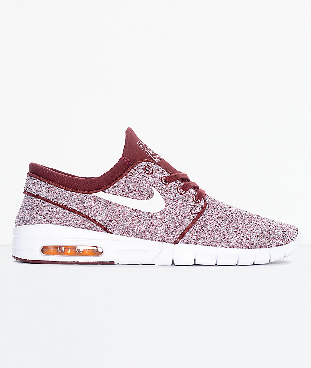 Nike SB Janoski Air Max Red, White & Orange Skate Shoes
