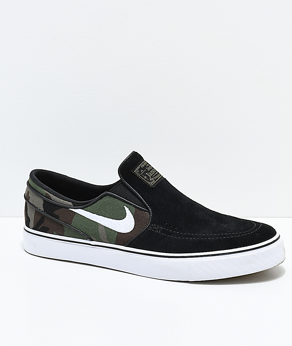 Skate Shoes Nike Slip On Janoski SB BlackCamo sdhQrtC