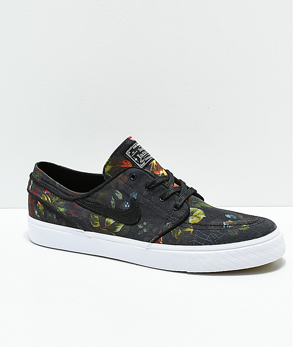 official photos cb8ef 445fd Nike SB Janoski Floral Canvas Shoes