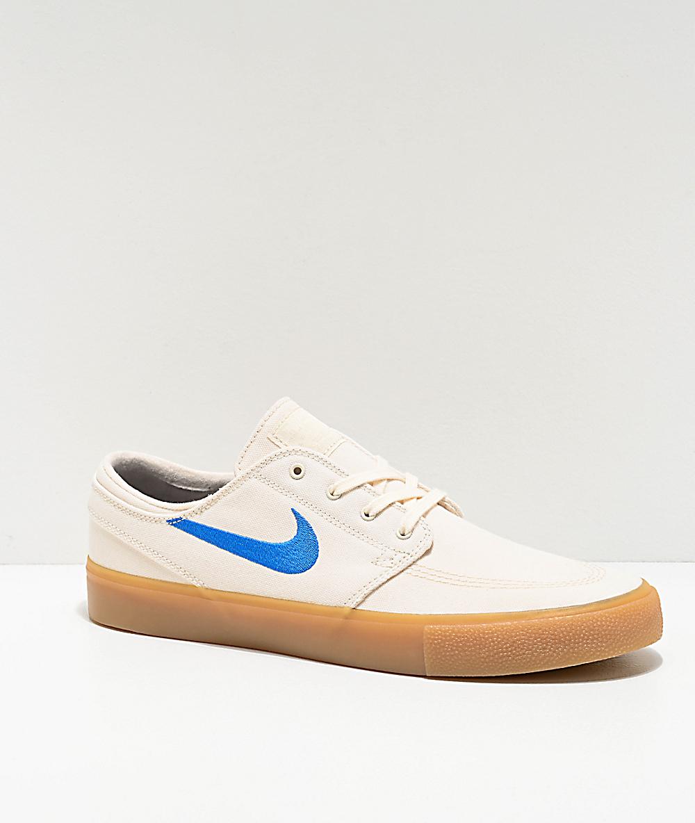 Nike Sb Janoski Ivory Gum Canvas Skate Shoes