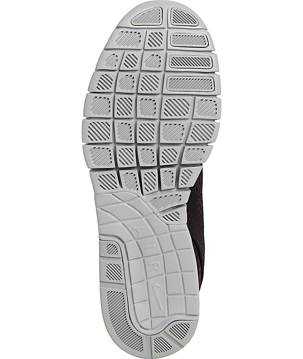 Nike SB Janoski Max zapatos de colores villano rojo, negro y lobo gris