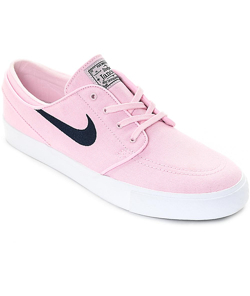 Nike SB Janoski Prism Pink & Navy Canvas Skate Shoes