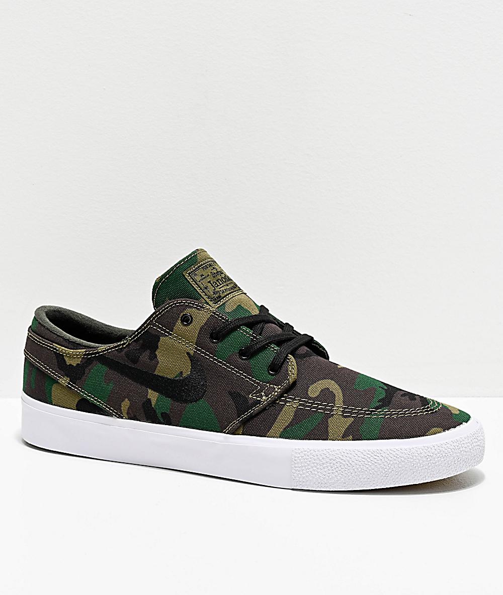 Nike SB Janoski RM Woodland Camo Canvas Skate Shoes