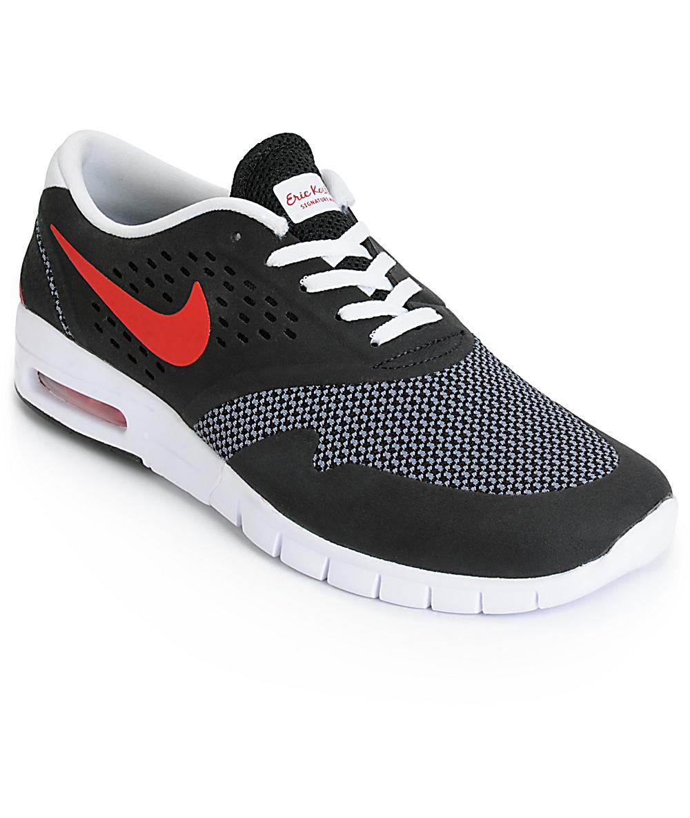 Nike SB Koston 2 Air Max Black, Red & Cool Grey Shoes