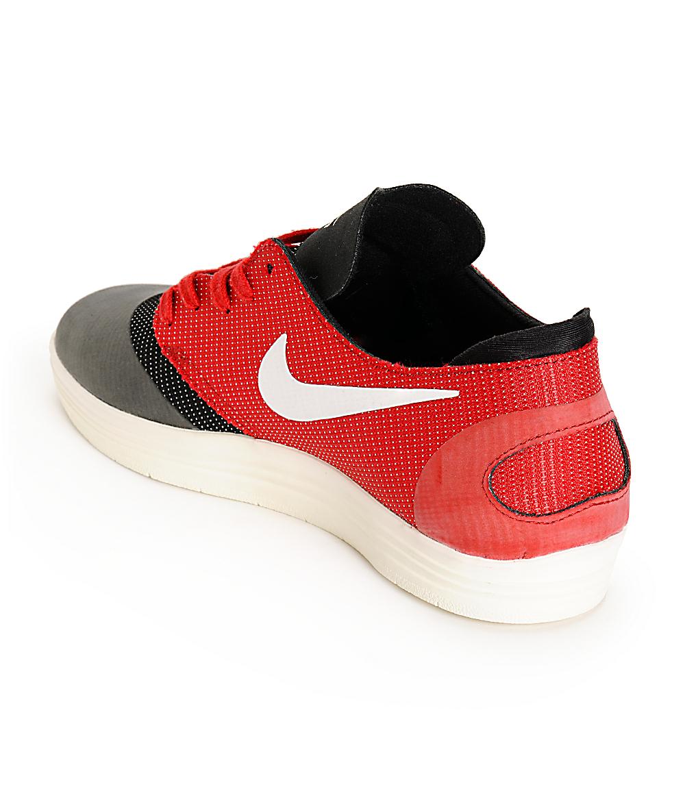 purchase cheap 34ef4 1f61c Nike SB Lunar Oneshot Black, Ivory,   Gym Red Skate Shoes   Zumiez