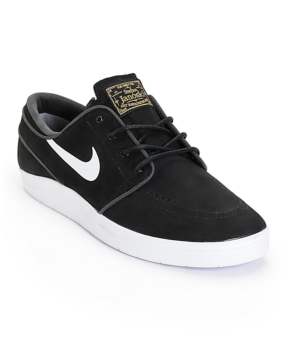 super popular 8d89c fac70 Nike SB Lunar Stefan Janoski Black   White Skate Shoes   Zumiez