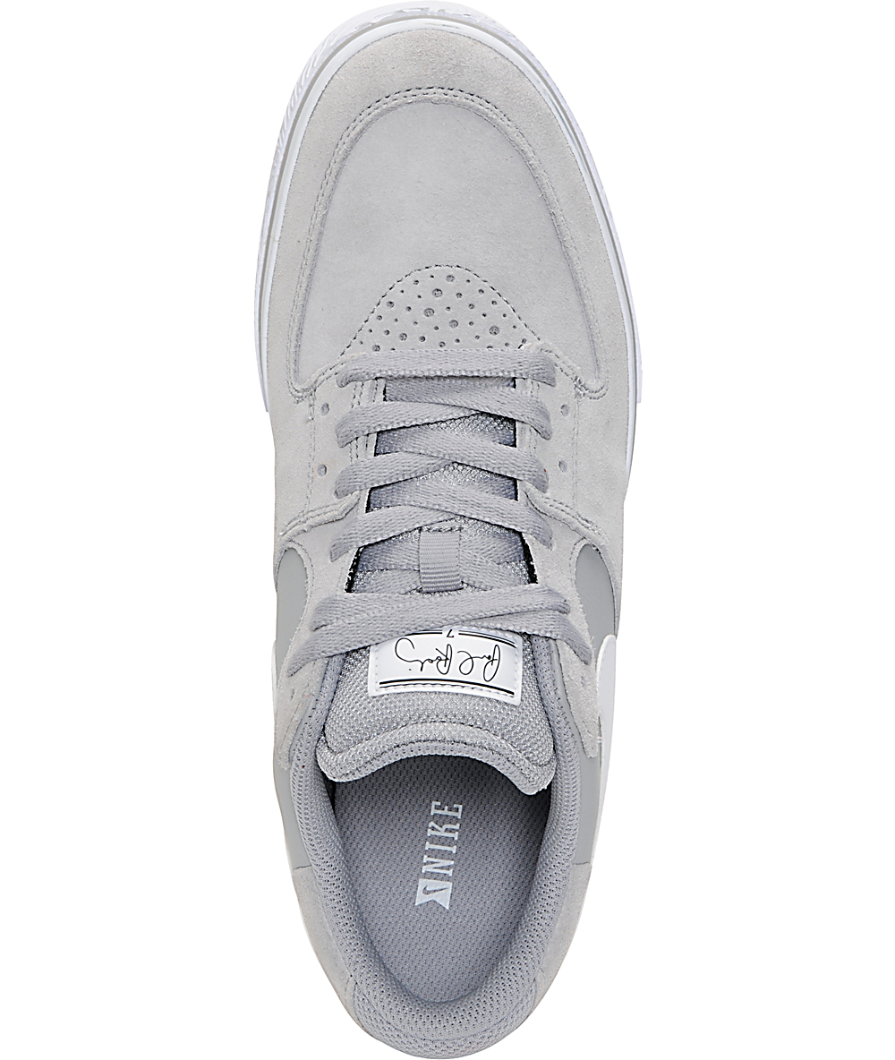 newest c43e2 e6c16 Nike SB P-Rod 7 VR Matte Silver   White Skate Shoes   Zumiez