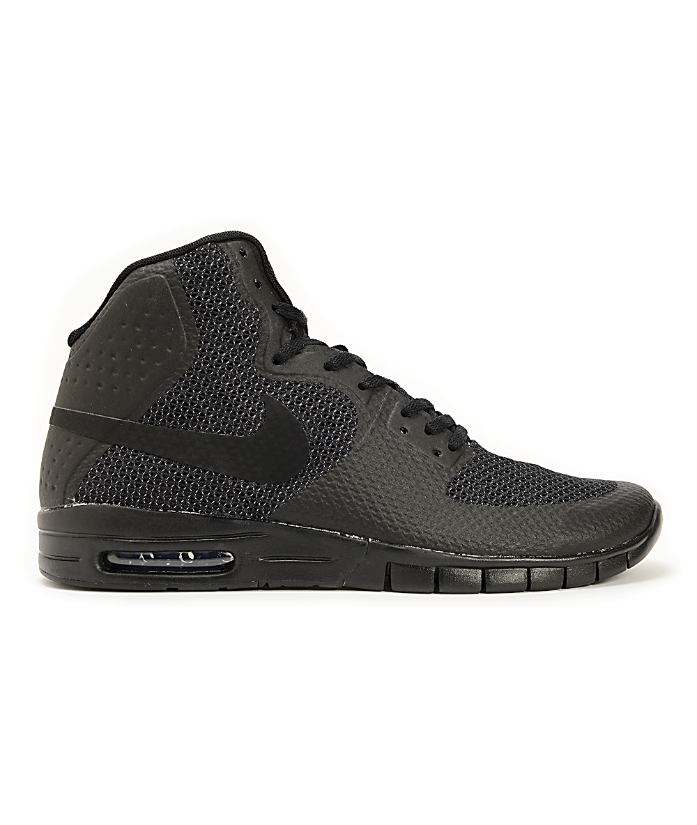 reputable site 585a6 8c30d Nike SB Paul Rodriguez 7 Hyperfuse Air Max Black   Anthracite Shoes   Zumiez