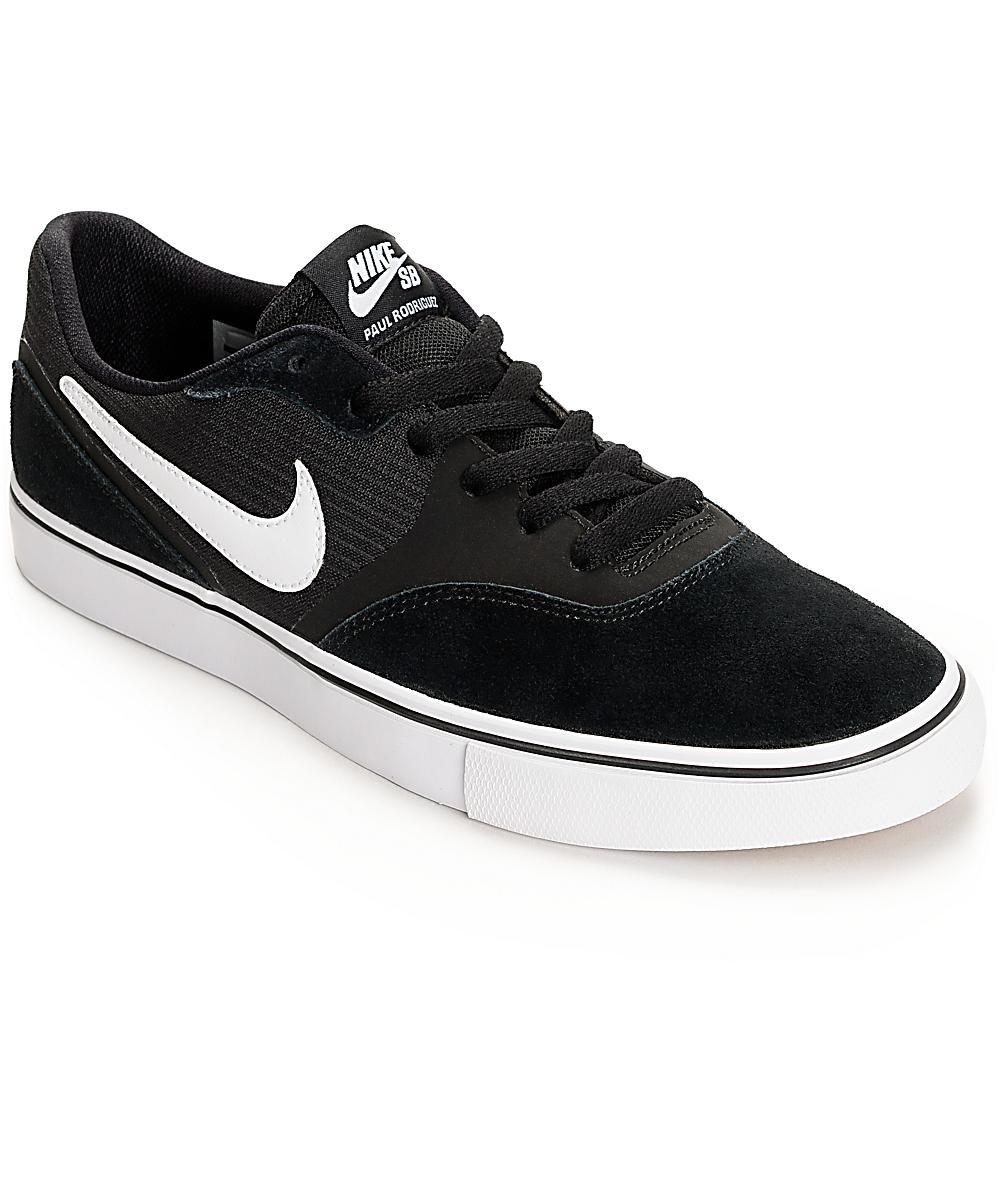 najlepiej autentyczne dobrze out x wielka wyprzedaż Nike SB Paul Rodriguez 9 VR Black & White Skate Shoes