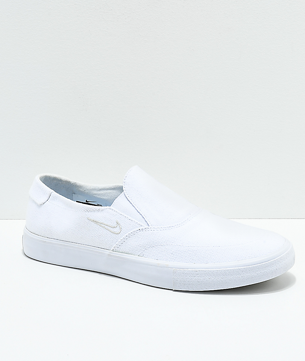 On Slip Canvas Nike Portmore Skate Shoes Sb White Ii 1TJ3lFKuc