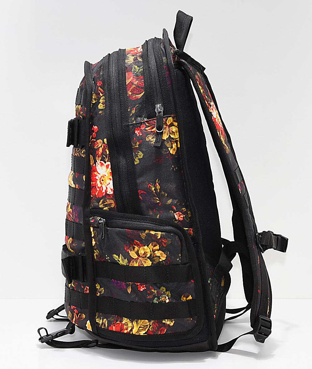 Nike SB RPM Floral & Black Backpack