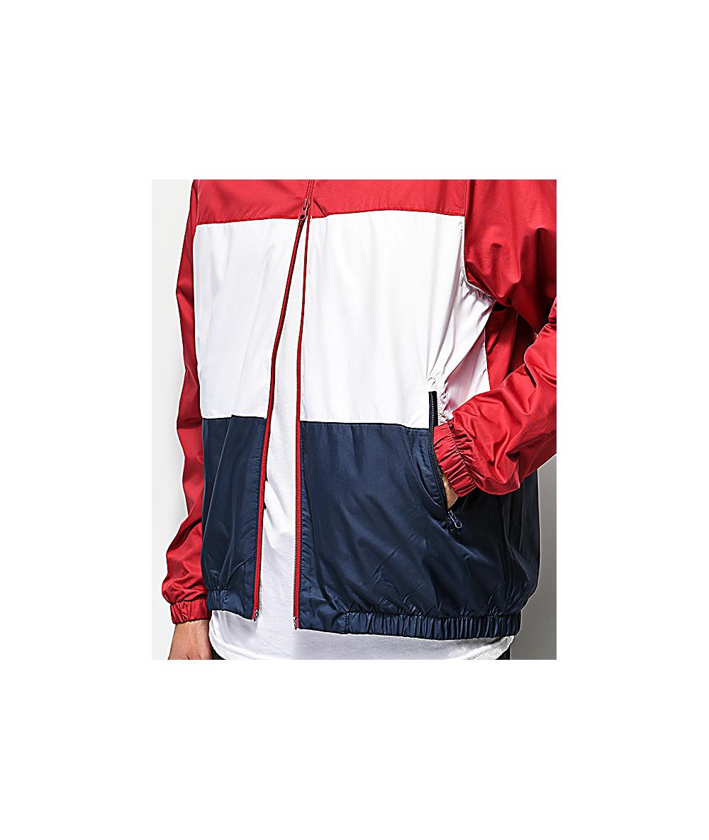 abb454b51 Nike SB Shield Red, White & Blue Windbreaker Jacket   Zumiez