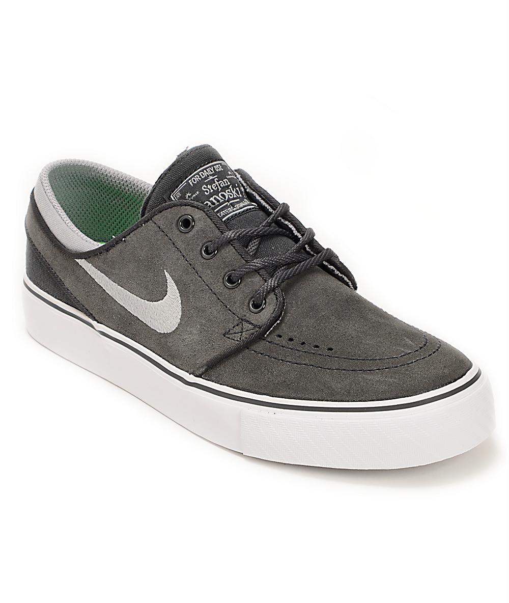 great prices sneakers for cheap crazy price Nike SB Stefan Janoski GS Anthracite & Stadium Grey Boys Shoes